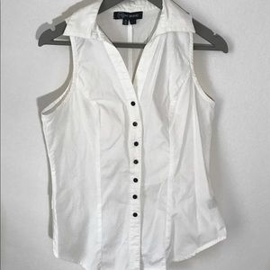 Tops - White Button Up Top